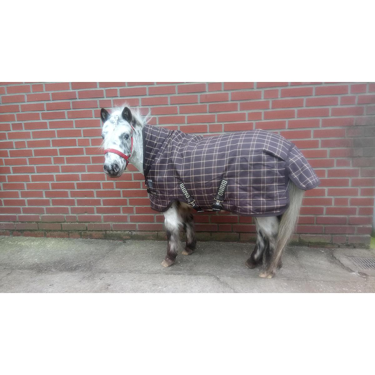 Rhino Pony Wug Turnout Medium Schokolade/Creme