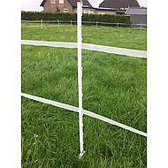 Ako Vollkunststoffpfahl mit Steigbügeltritt, Weiß 158cm
