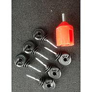 Ako Ring Insulator Compact Continuous Support Black 100Pcs
