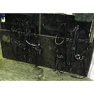 Kerbl Porte-Bride 4 Crochets Noir