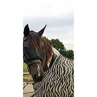 Harrys Horse Fly Mask With Fur Binding Black M