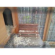 Kerbl Holzbank f. Meerschweinchen NATURE Holz 30x15x18cm