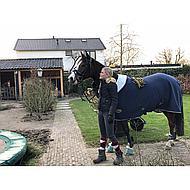 Harrys Horse Teddy Fleecedeken met Halve Hals Navy 105/155