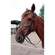 Harrys Horse Mexican Bridle Crystal Black Cob