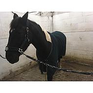 Harrys Horse Fleecedeken met Halsterset Zwart 125/175