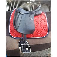 HKM Saddle Clothequestrian Red/Blue Universal