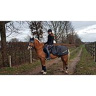 Back on Track Exercise Rug Windproof Black 155/205cm
