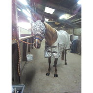 Premiere Vliegenmasker Zonder Oren Animal Print Zebra Pony