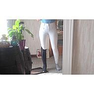 BR Pantalon de Concours Copenhagen Microfibre Fond de peau Blanc 42