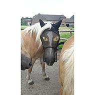 Pfiff Fly Mask Motif Black Beige Pony