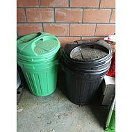 Agradi Futtertonne mit Drehverschluß Grün 70L