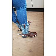 Ariat Western Quickdraw B Brown Oiled/Sapphire Blue 8,5/42,5