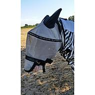Hkm Vliegenmasker Met Afneembaar Neusnetje Zilver/zwart Xl