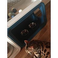 Beeztees Cat Cube Dinner Blauw 49x29x32,6cm