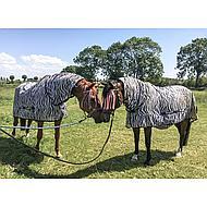 Kerbl RugBe Fliegendecke Ekzemerdecke mit Halsteil Zebra 135