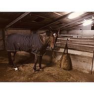 Shires Hooinet Deluxe zwart/blauw 92cm 6,5kg