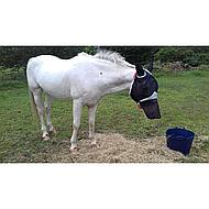 Shires Vliegenmasker Dun Net Oren en Neus Black Pony