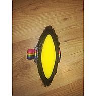Agradi Borstel met Spons Rug van PVC Zwart 18x8,5cm