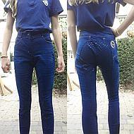 Hoefwijzer Rijbroek Jeansblauw 34