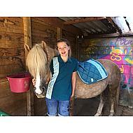 Feline Fauve Zadeldekje Esme Zomer 2019 Turquoise Pony VZ