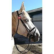Harrys Horse Hoofdstel Silverline Bruin Aansnoerneusriem Cob