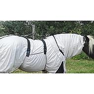 Premiere Fly Rug Hood Mesh Belly Bib Grey 155/205