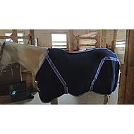 Kerbl Rugbe Classic Fleece Zweetdeken 125/175 Blauw/Lila