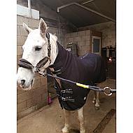 Harrys Horse Couverture Polaire avec Couvre-cou Noir 155/205
