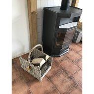 Esschert Wood Log Basket Grey