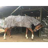 Harrys Horse Flysheet Neck Saddle Cutout Zebra 145/195