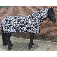 Harrys Horse Vliegendeken Zebra French Blue Hals Singels 215