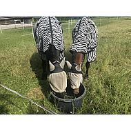 Harrys Horse Vliegendeken Zebra Zwart Losse Hals 105