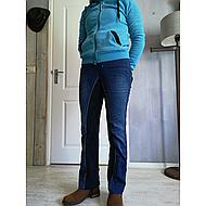 HKM Jodhpur Rijbroek Summer Denim Jeansblauw/Donkerblauw 76