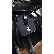 BR Stijgbeugelhoesjes Neopreen Zwart XL