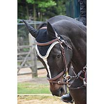 Harrys Horse Pelham Gummi-mundstück Gebrochen Schwarz