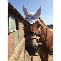 Harrys Horse Fliegenschutznetz / Ohren Weiß