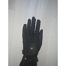 BR Riding Gloves All Weather Pro Leather Feel Black