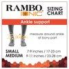 Rambo Ionic Enkel Support Black