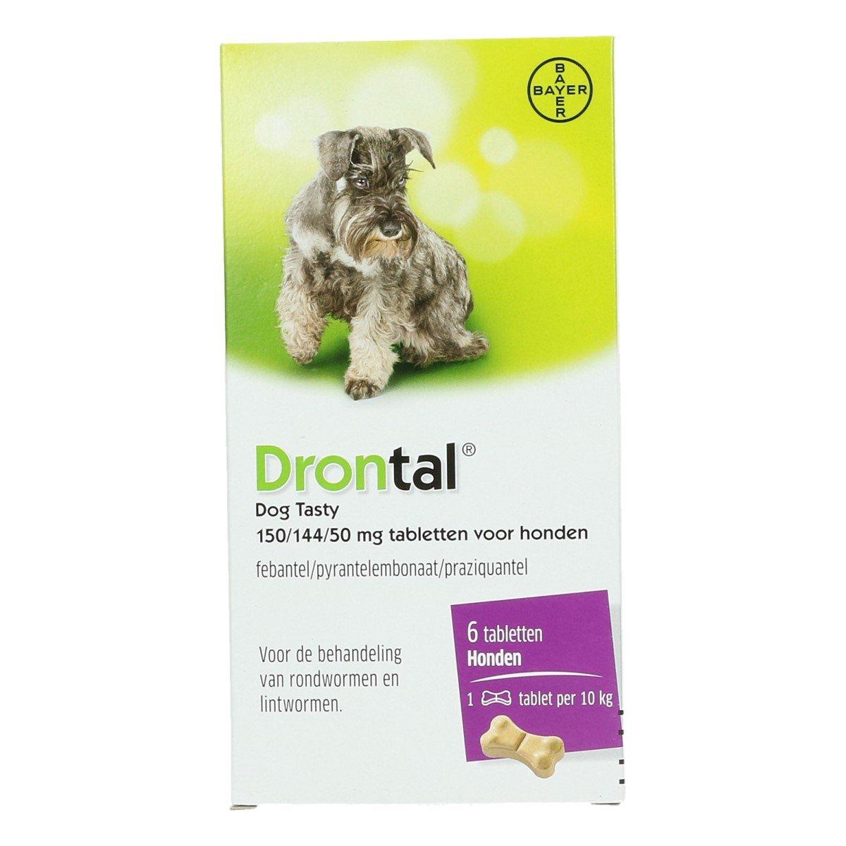 Afbeelding van Drontal Flavour Ontwormingstablet Hond 6tabl
