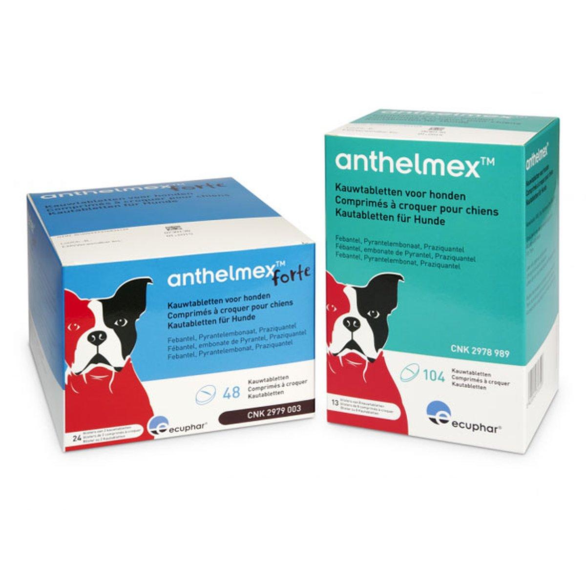 Afbeelding van Anthelmex Hond <17,5kg Kauwtabletten Kennelverpakking 104st