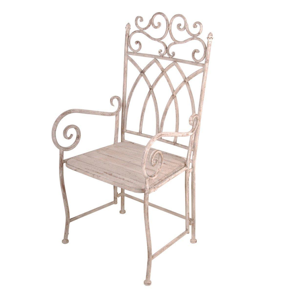 Afbeelding van Esschert Aged metal Stoel met Armleuning
