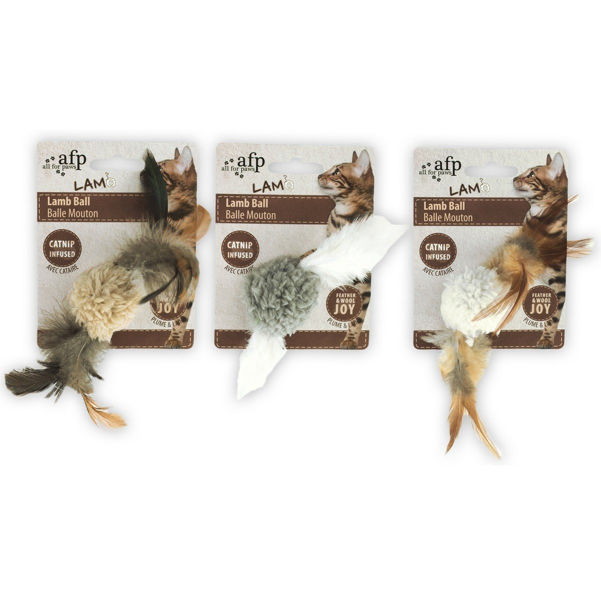 Imagem de All For Paws Ball with Bird Sound Lambswool Catnip