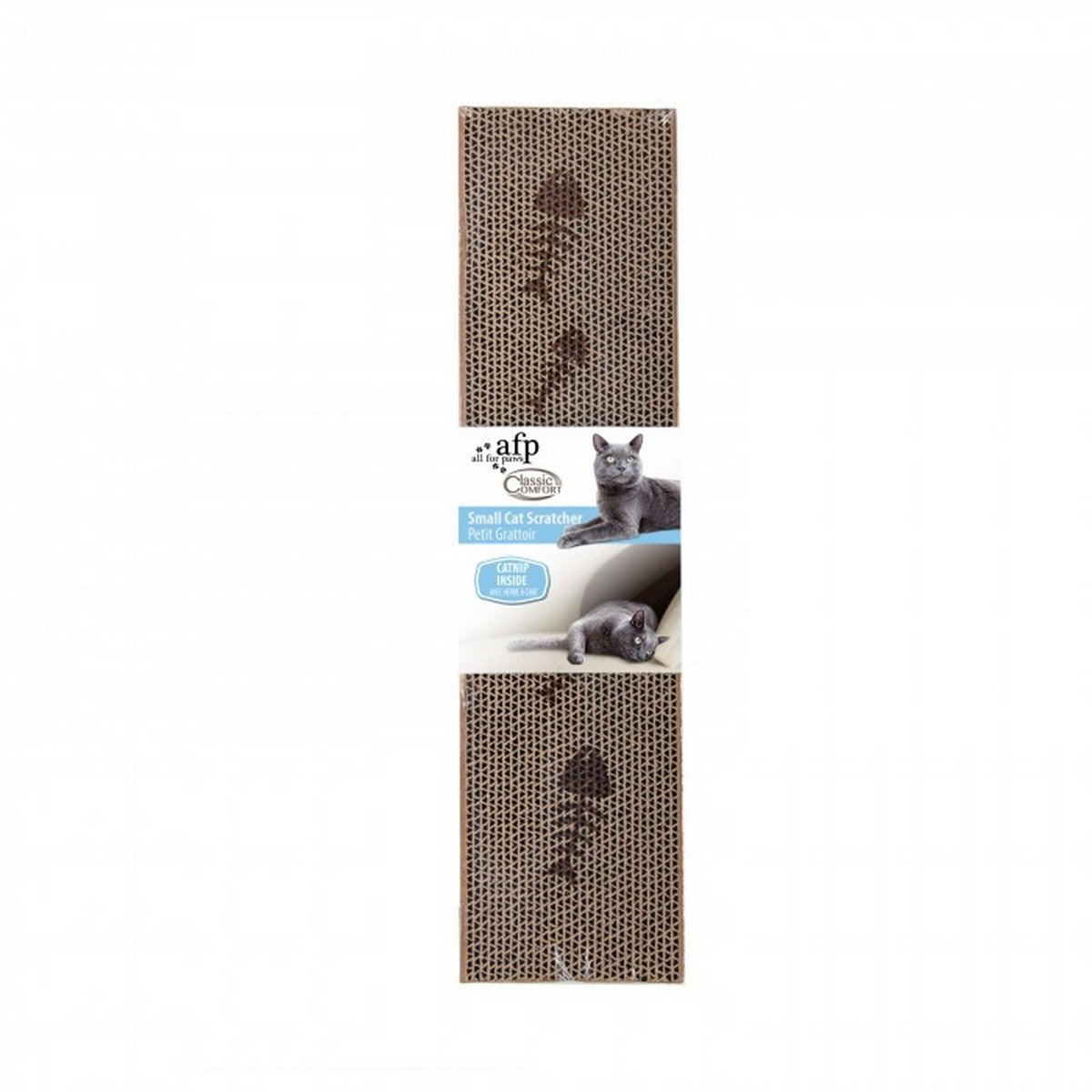 Afbeelding van Afp Cardboard Scratcher met Catnip Regular 44 x 11 cm