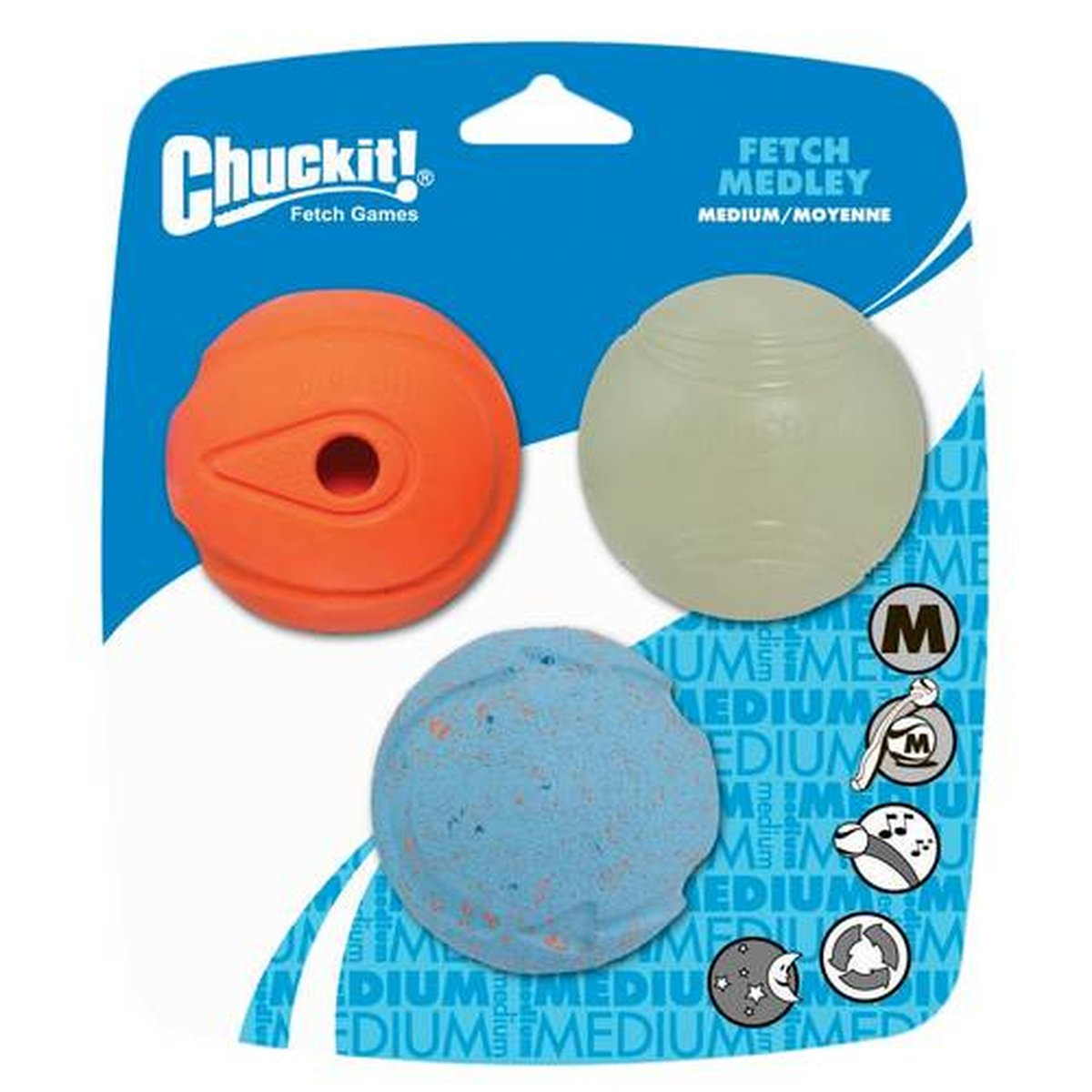 Afbeelding van Chuckit Fetch Medley Medium 3 pack 1 set