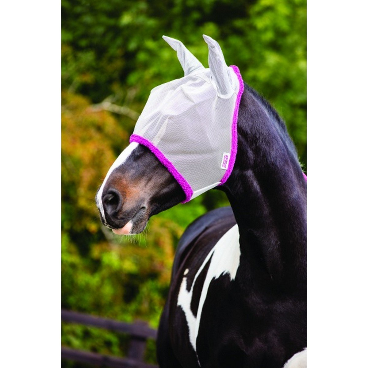 Imagem de Amigo by Horseware FlyMask Silver/Purple Cob