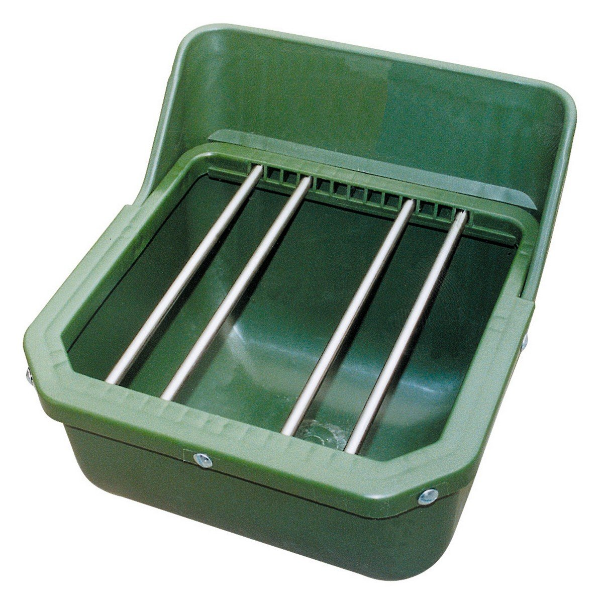 Abbildung von Kerbl Kraftfuttertrog Fohlentrog ohne Metallstäbe Grün 9L
