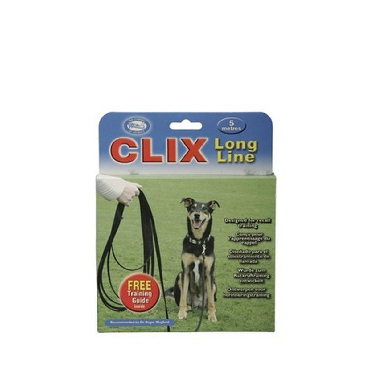Afbeelding van Clix Terugroeplijn Hond Zwart 5m