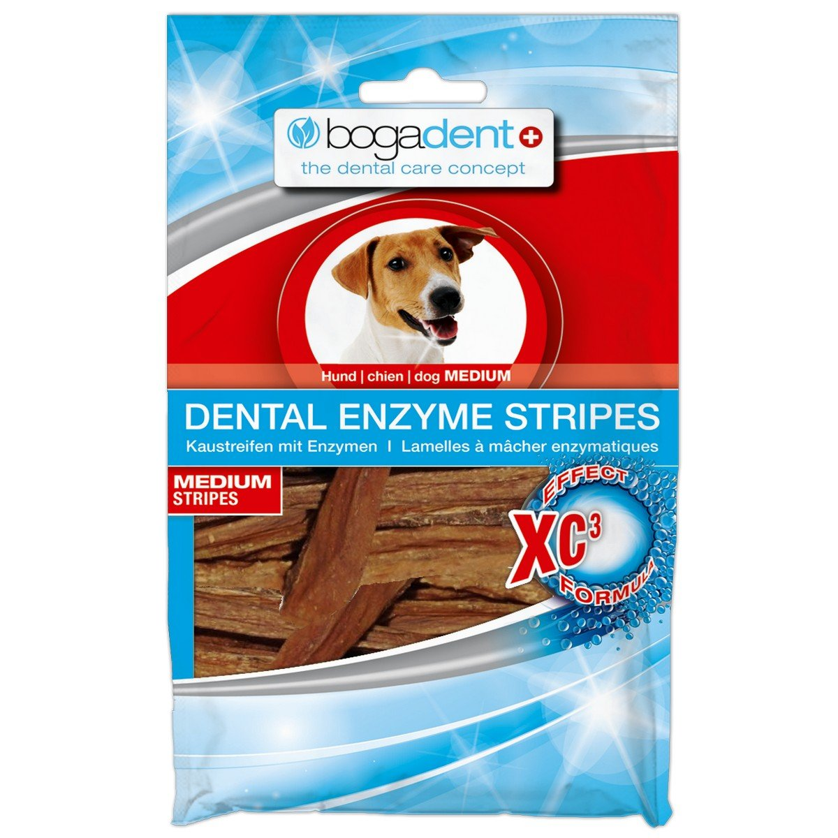 Afbeelding van Bogar Bogadent Dental Enzyme Stripes Dog Medium 100gr
