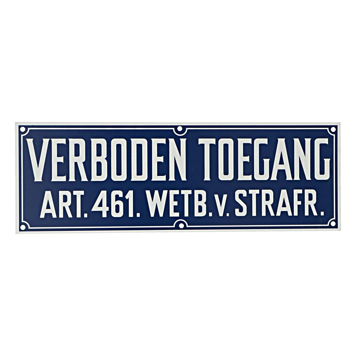 Afbeelding van Agradi Bord Verboden Toegang Art.461