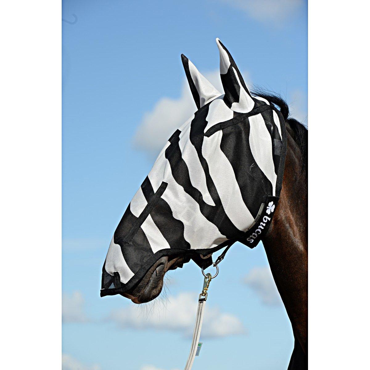 Imagem de Bucas Fly Mask Buzz Off Full Face Zebra 155/XL